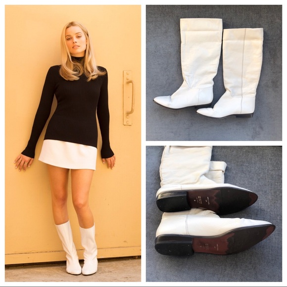 Sharon Tate Vintage 7s White Leather
